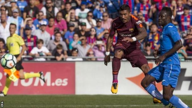 Gol de Paulinho en el encuentro frente al FC Barcelona // Fuente: FC Barcelona