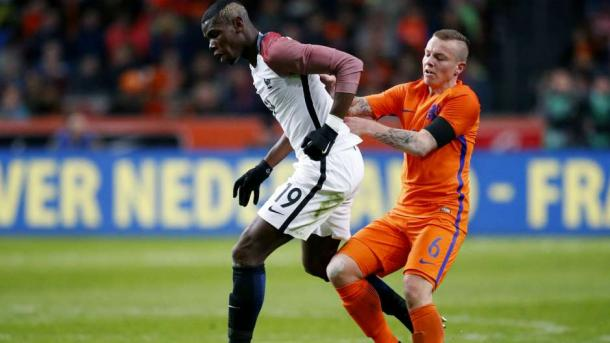 Classy played 45 minutes of the Netherlands' other friendly this week, which was a 3-2 defeat to France. (Photo: Goal)