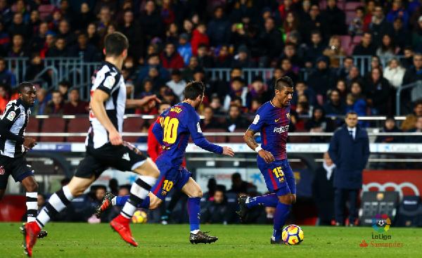 La figura de Paulinho ha dado al Barcelona más físico y gol desde el centro del campo. | Foto: La Liga