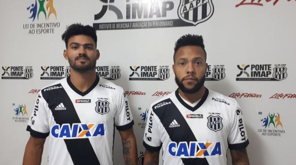 Tony (esq.) e Paulinho (dir.) estão entre os reforços da Ponte Foto: PontePress