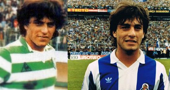 Paulo Futre vistió la camiseta de ambos conjuntos