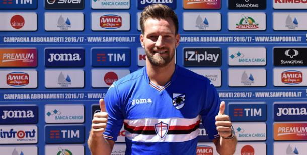 Pavlovic was unveiled officially on Tuesday | Photo: sampdoria.it