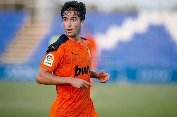 Pedro Alemañ en el amistoso frente al Levante UD | Fuente: Valencia CF