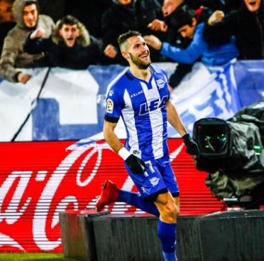 Alfonso Pedraza ha marcado dos goles en los dos últimos encuentros de Mendizorroza. Fuente: deportivoalaves.com
