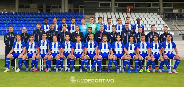 El Juvenil del Deportivo de La Coruña de la campaña 2015/16. Foto: RC Deportivo