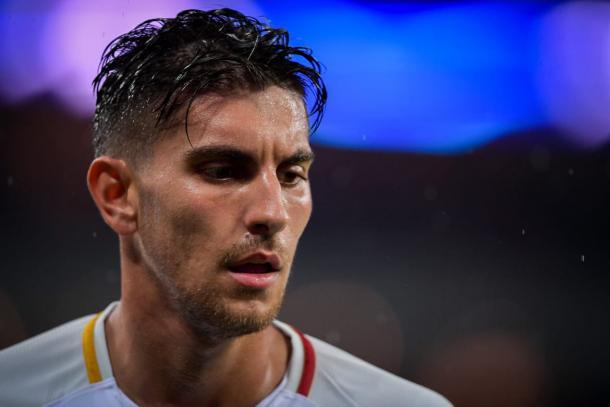 Lorenzo Pellegrini el pasado domingo en Milán / Foto: AS Roma