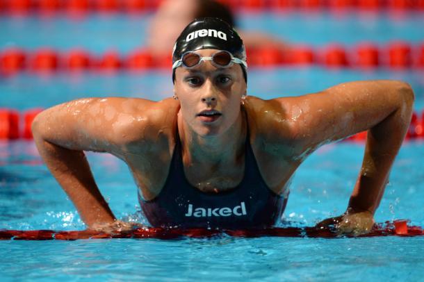 Federica Pellegrini, poco soddisfatta della sua prestazione - Foto Getty Images