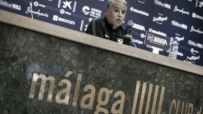 Pellicer en rueda de prensa. / Foto: Málaga CF
