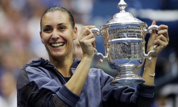 Flavia Pennetta produced one of the shocks of the year (Source: USA Today)