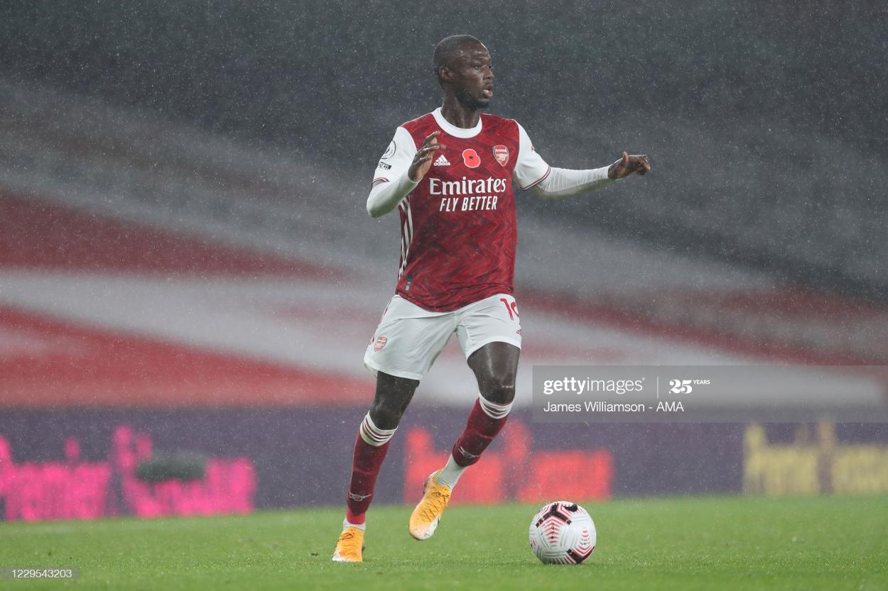 Nicolas Pepe admits he is frustrated by his playing opportunities (Photo by James Williamson via Getty Images)