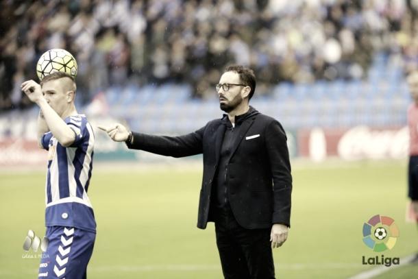 José Bordalás en un partido al frente del Deportivo Alavés // Fuente: LaLiga