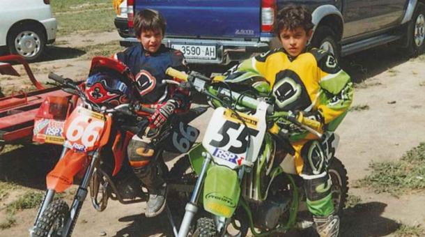 Marc y Ález Márquez de pequeños. | Fuente: Página oficial Marc Márquez