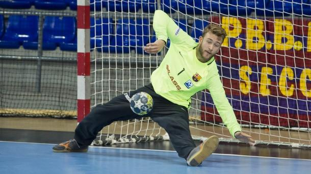 Pérez de Vargas en acción durante esta temporada | Foto: fcbarcelona.es