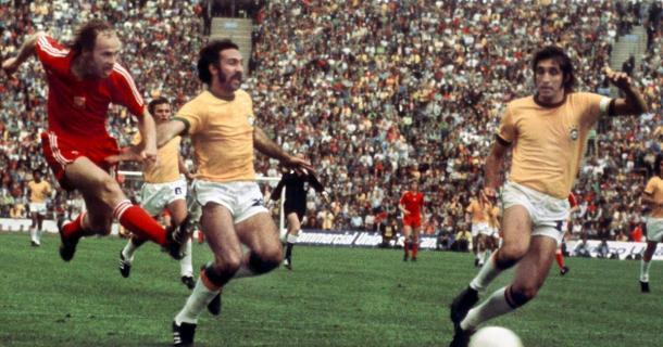 Lato fez gol no Brasil na Copa de 1974 (Foto: AFP)