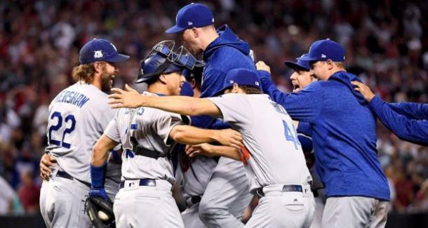 The Dodgers took care of the Diamondbacks in easy fashion/Photo: Jennifer Stewart/MLB Photos\