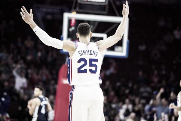 Ben Simmons en un partido de pretemporada | NBA