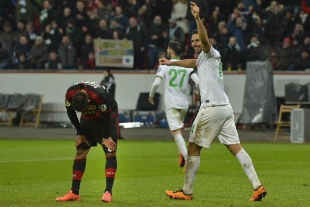 Pizarro silences Leverkusen. | Source: BR