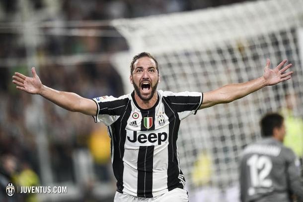 Higuaín celebrando un tanto/ FOTOGRAFÍA: Juventus.com