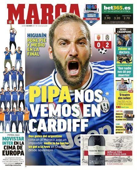 La prima pagina di Marca, www.foxsports.it