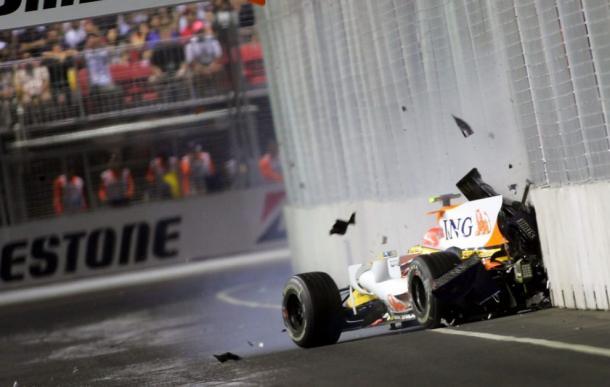 Batida de Piquet (Foto: Reprodução/F1)