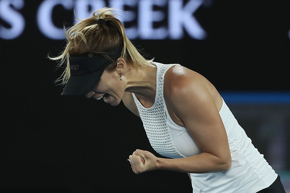 Pironkova was unable to keep up her intensity (Photo by Mark Kolbe / Getty Images)