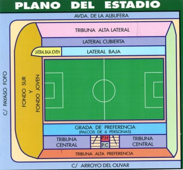 Planos del Estadio de Vallecas. Foto: Rayo Vallecano