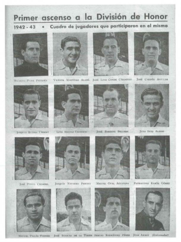 Plantilla del Sabadell la temporada 1942-1943 | Foto: CE Sabadell