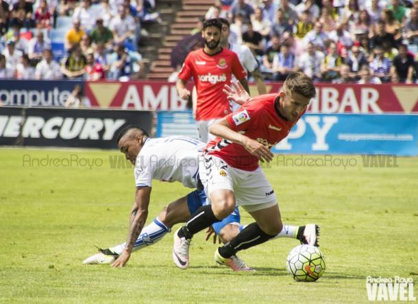 El Nàstic demostró su validez para el ascenso ganando en campos como La Romareda | Foto: Andrea Royo (VAVEL)