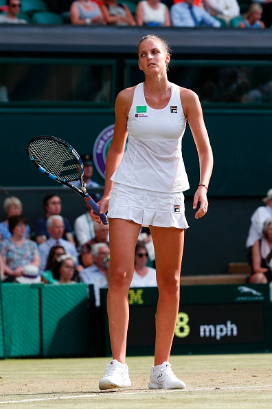 The Czech suffered a disappointing second round exit at Wimbledon for the fifth year in succession (Photo by Adrian Dennis / AFP)