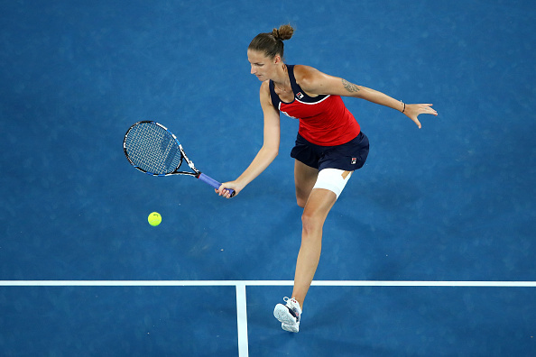 Pliskova will be pleased with her progress through to the quarterfinals (Photo by Cameron Spencer / Getty Images)