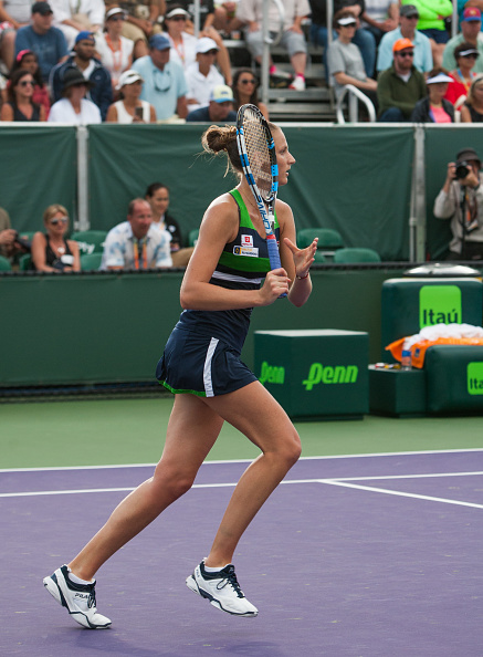 Pliskova is looking to reach a second Miami Open quarterfinal (Photo by Icon Sportswire / Getty Images)
