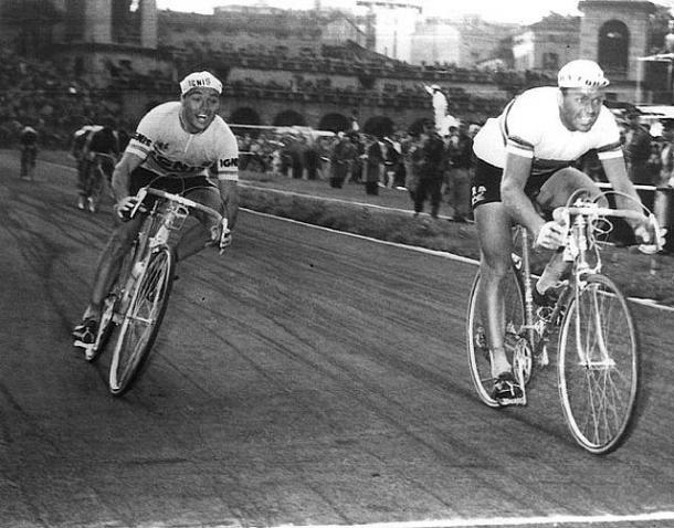 Poblet (izquierda) ganó 4 etapas en el Giro 1957. | Fuente: Giro de Italia