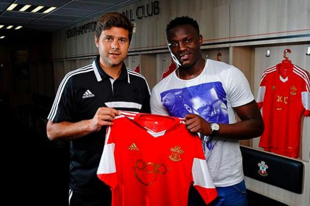 Pochettino previous signed Wanyama for Southampton (photo: Saints FC)