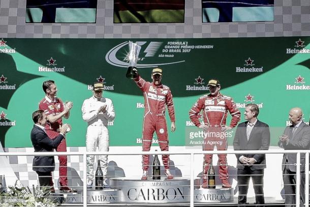 Podio del GP de Brasil 2017 | Fuente: Getty Images