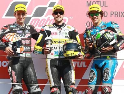 El podium de la categría de Moto2 | Foto: Team Estrella Galicia 0'0 Marc VDS
