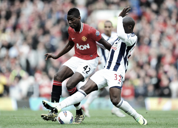 Pogba making a rare appearance during his first spell with United | Photo: Michael Regan/ Getty Images Sport