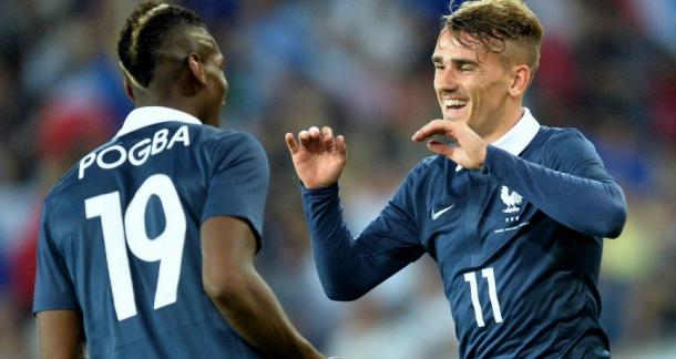 Will Pogba and Griezmann play on Wednesday? (photo: Getty)