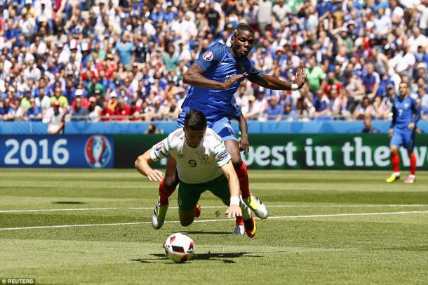Pogba conceded the early penalty against Ireland, but improved as the game wore on (photo; Reuters)