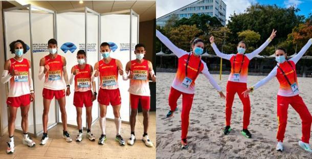Los componentes de la selección española de media maratón. Foto: RFEA