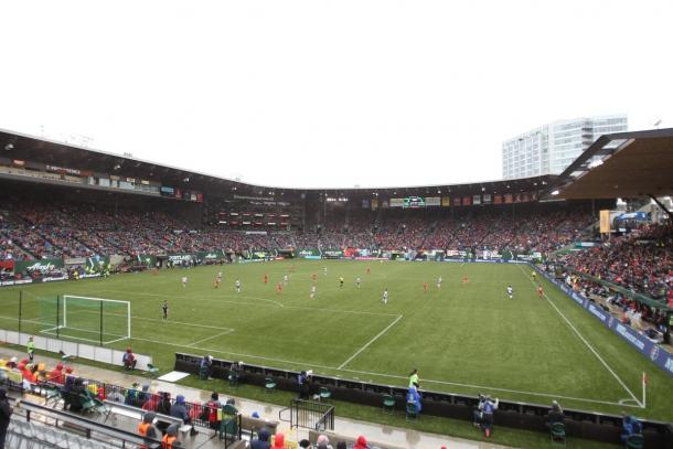 A great turnout at Providence Park | Source: Portland Thorns