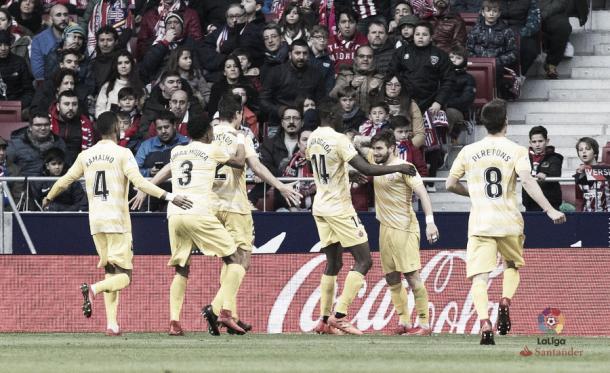 Fantástica actuación del Girona FC en el Metropolitano | LFP