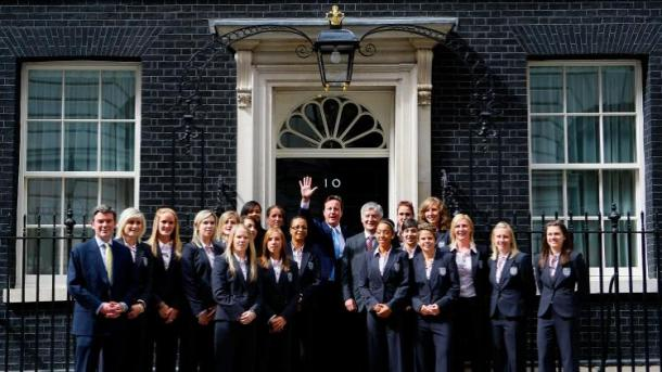 Powell and the team at 10 Downing Street (photo: FA)