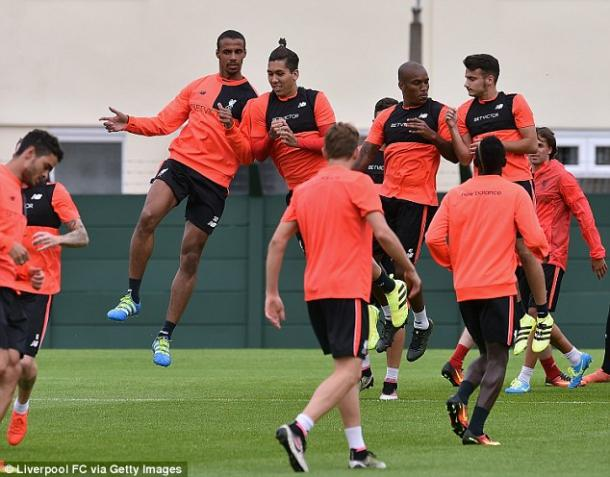 Liverpool's squad are put through their paces in pre-season training (photo; Getty Images)