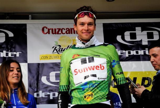 Preidler con el maillot de la montaña | Fuente: Team Sunweb