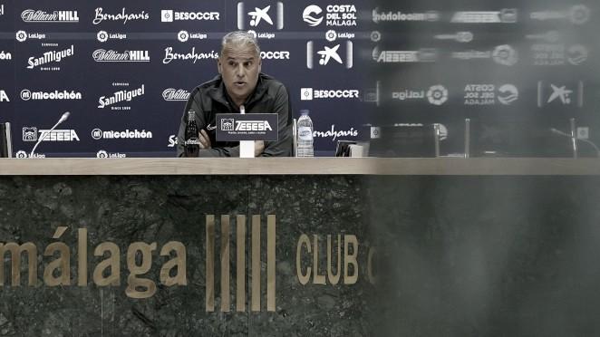 Sergio Pellicer durante la rueda de prensa. / Foto: Málaga CF