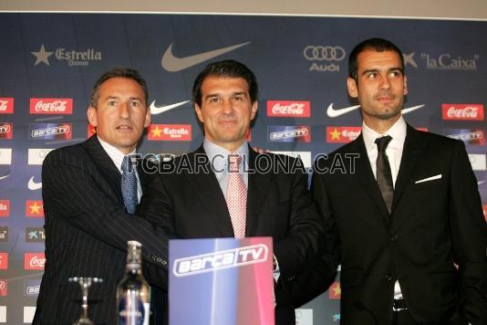 Presentación de Pep Guardiola en 2008 | Foto: fcbarcelona.cat