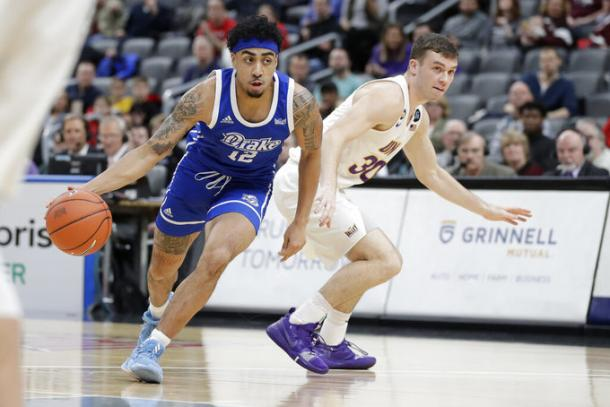 Penn led Drake in their massive upset of top seed Northern Iowa/Photo: Jeff Roberson/Associated Press