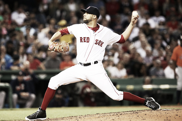 David Price delivers a pitch in the third inning. Photo: Adam Glanzman/Getty Images North America