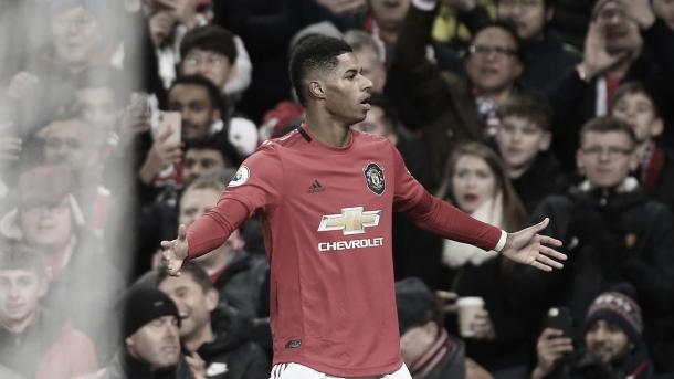 Rashford adelanta al United./ Foto: Premier League