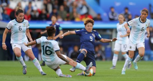 Primer tiempo: Argentina - Japón | Fuente: FIFA